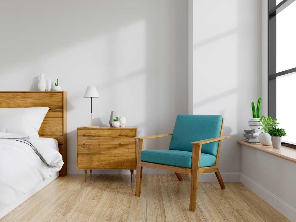 Nachtkastje naast het bed: kies voor warm hout