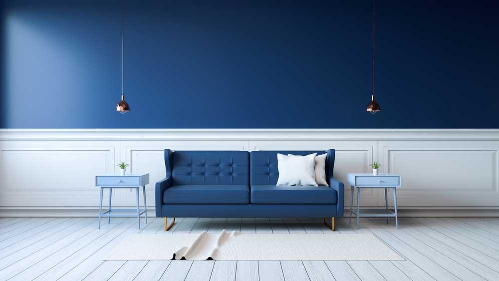 Donkerblauw in huis: de bank