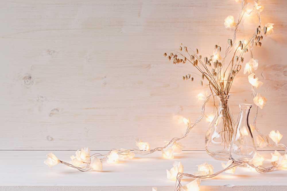Gezellige verlichting mag niet ontbreken in huis tijdens de winter