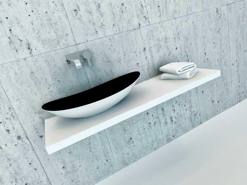De wastafel in het toilet is bepalend voor de uitstraling