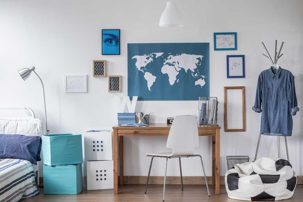 De voordelen van een poster van een landkaart aan de muur