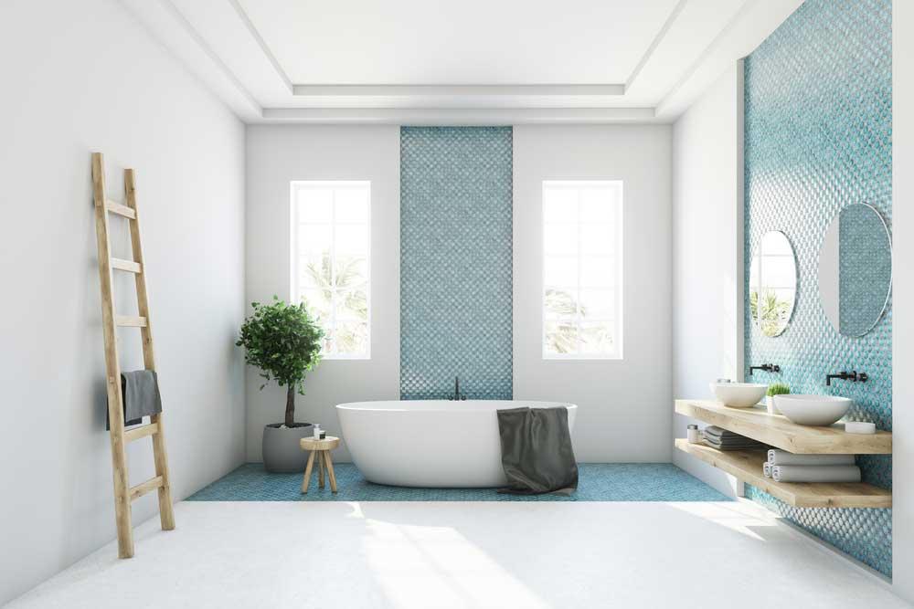 Een kleurrijke look in de badkamer met tegels