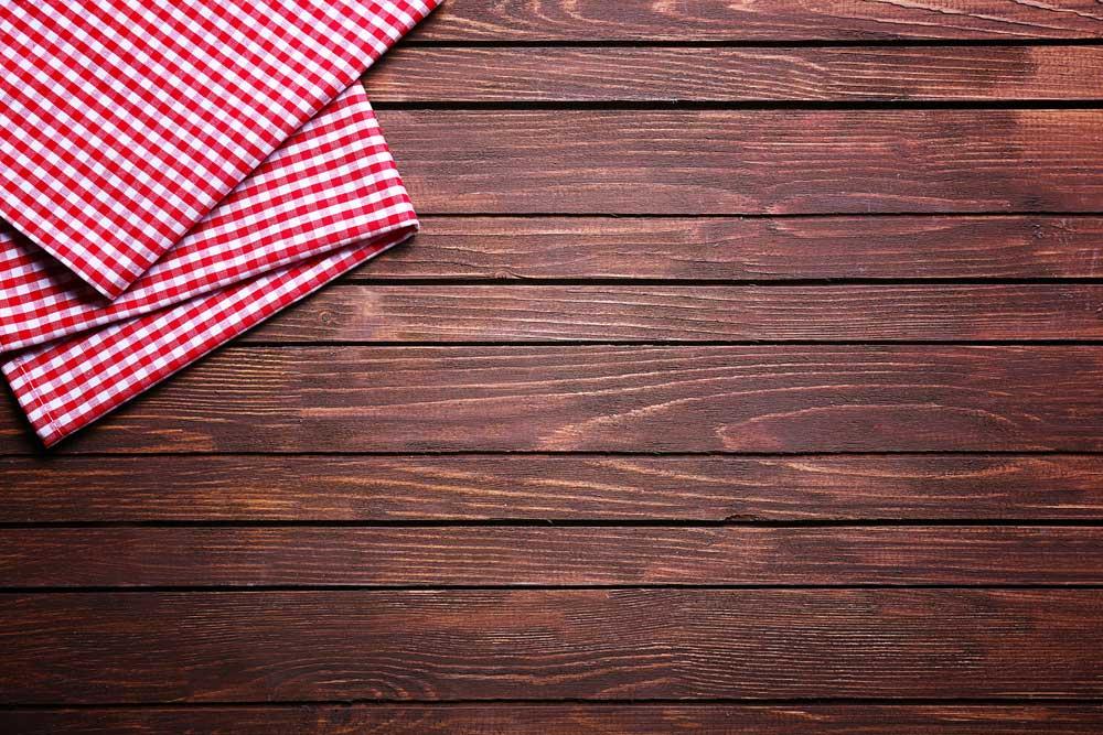 Ruitjespatroon in de keuken: altijd goed