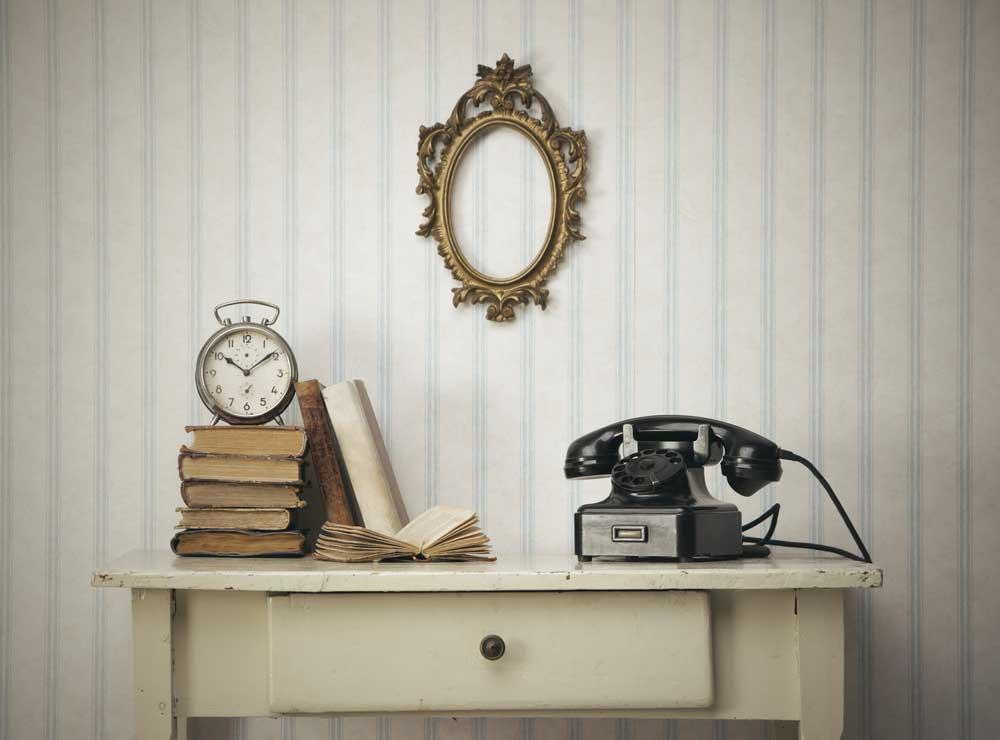 Grappig: een old school telefoon in huis