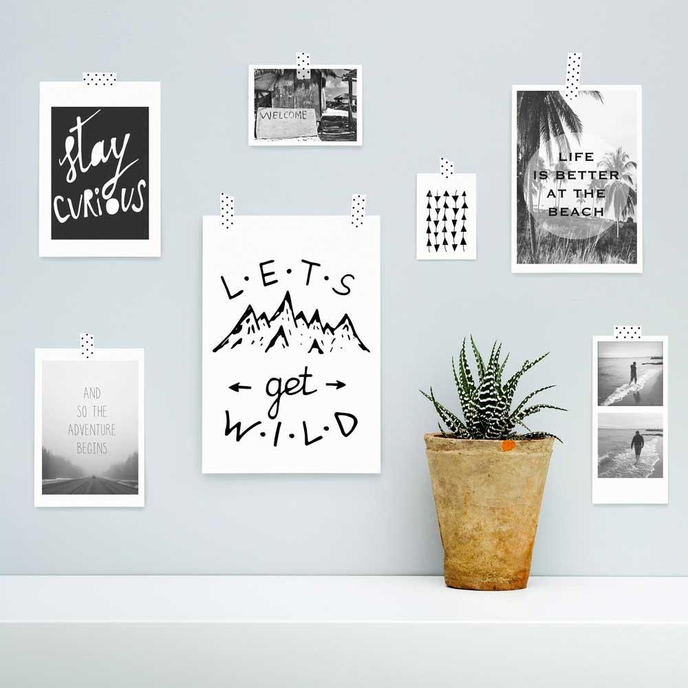 Kaarten met quotes aan de muur: mooi en persoonlijk