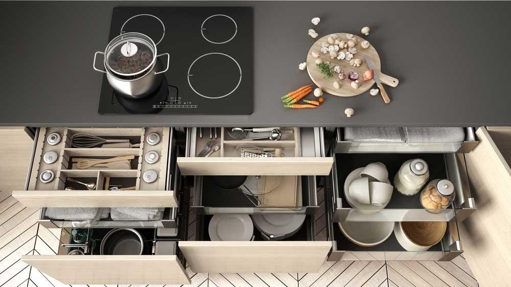 Opbergen in de keuken: essentiële tips