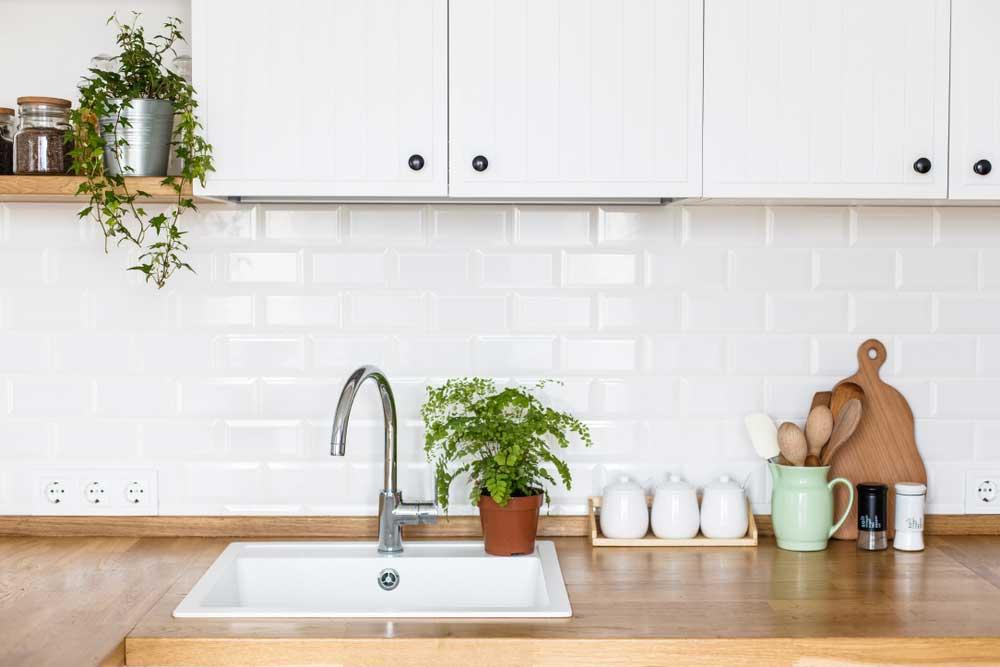 Gezelligheid in de keuken: plaats planten op het aanrecht