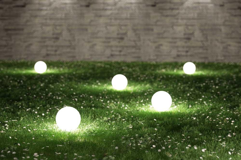 Voorbeeld van een lichtplan in de tuin