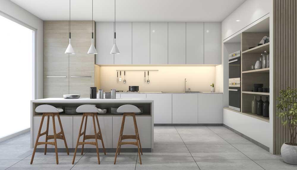 De minimalistische look in de keuken: altijd goed