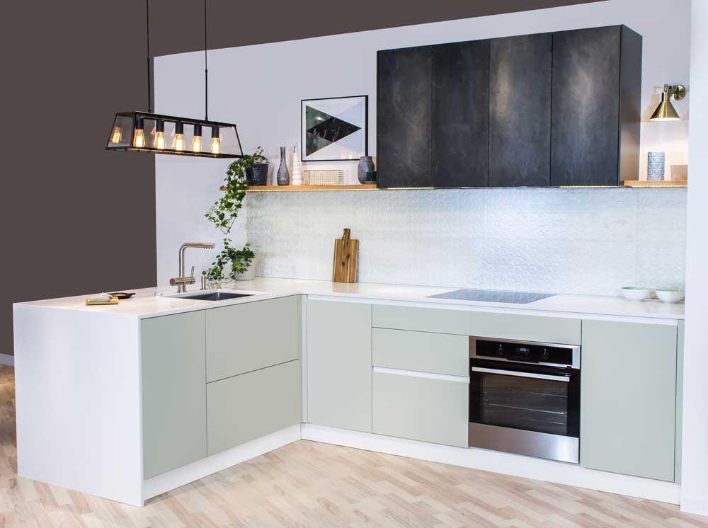 Pasteltinten in de keuken: lieflijk en warm