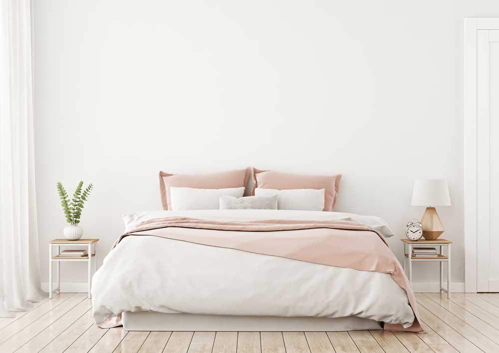 Roze en wit in de slaapkamer: een prachtige kleurencombinatie