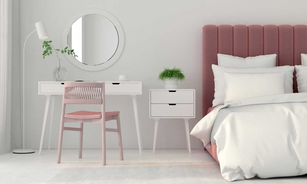 Subtiel en mooi: roze accessoires in de slaapkamer