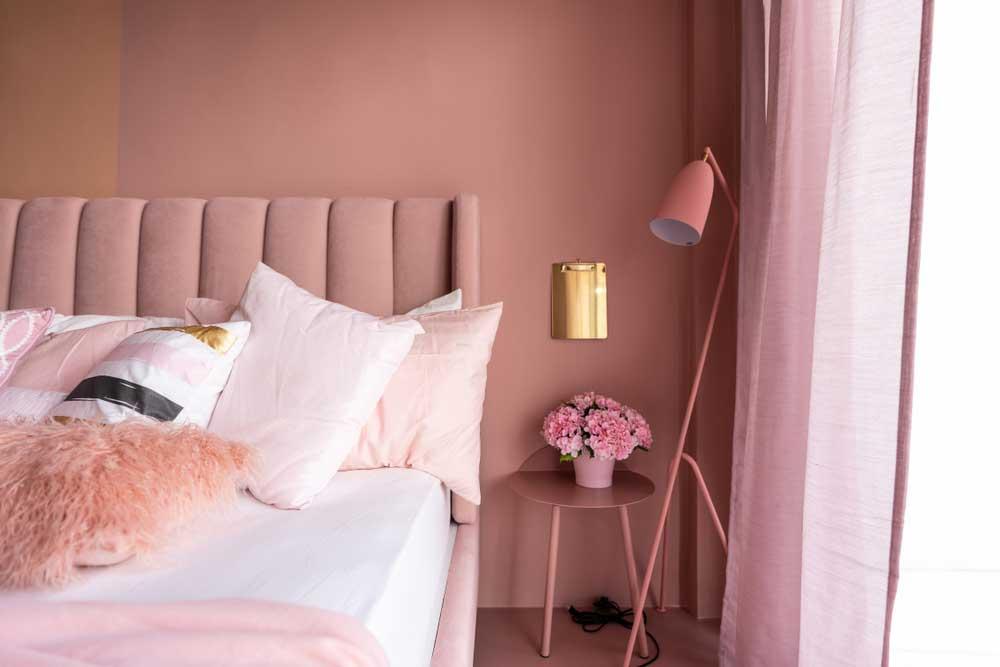 Roze in de slaapkamer: dat wordt heerlijk slapen