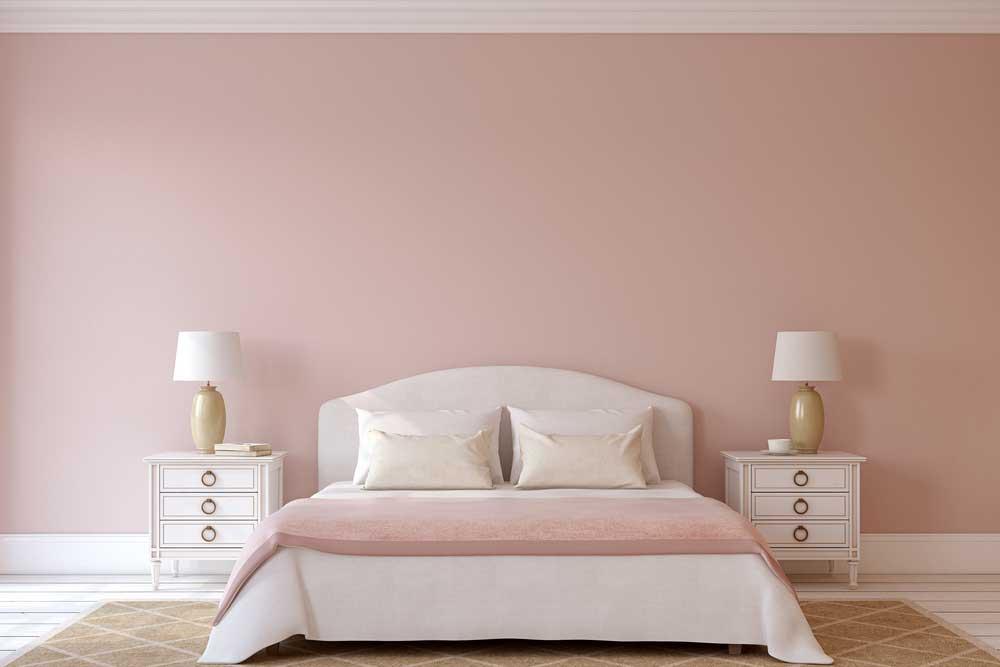 Roze op de muur in de slaapkamer: durf voor deze kleur te kiezen