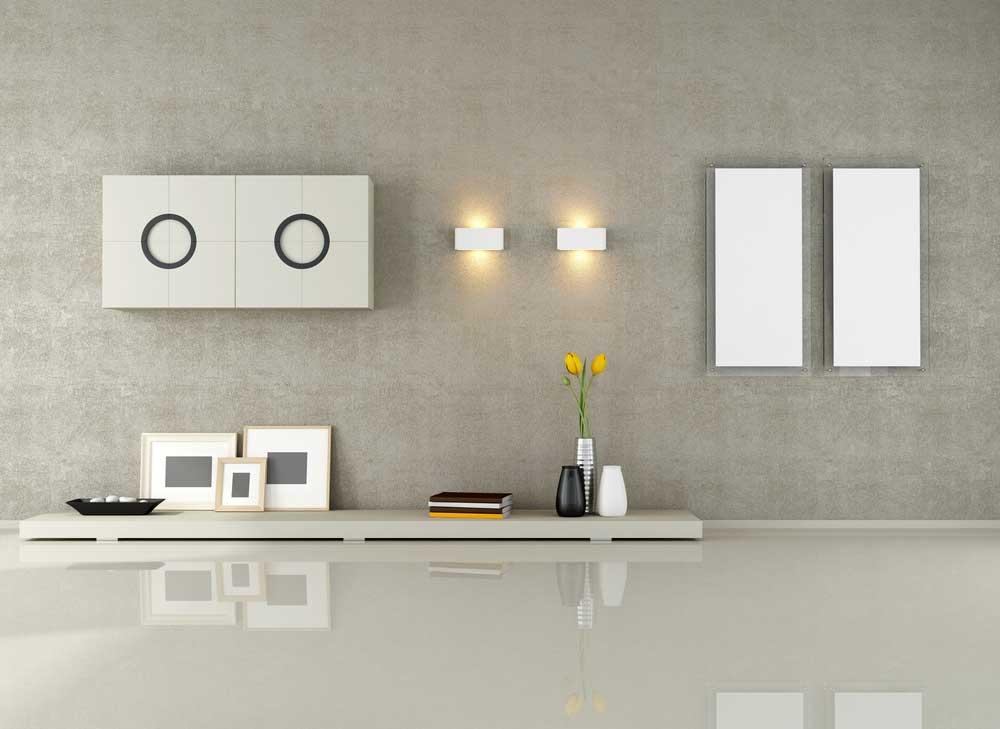 Stijlvol en trendy: een minimalistische wandlamp aan de muur