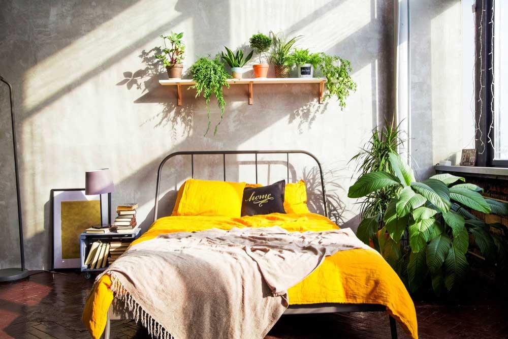 Geel in de slaapkamer: wat een vrolijkheid!