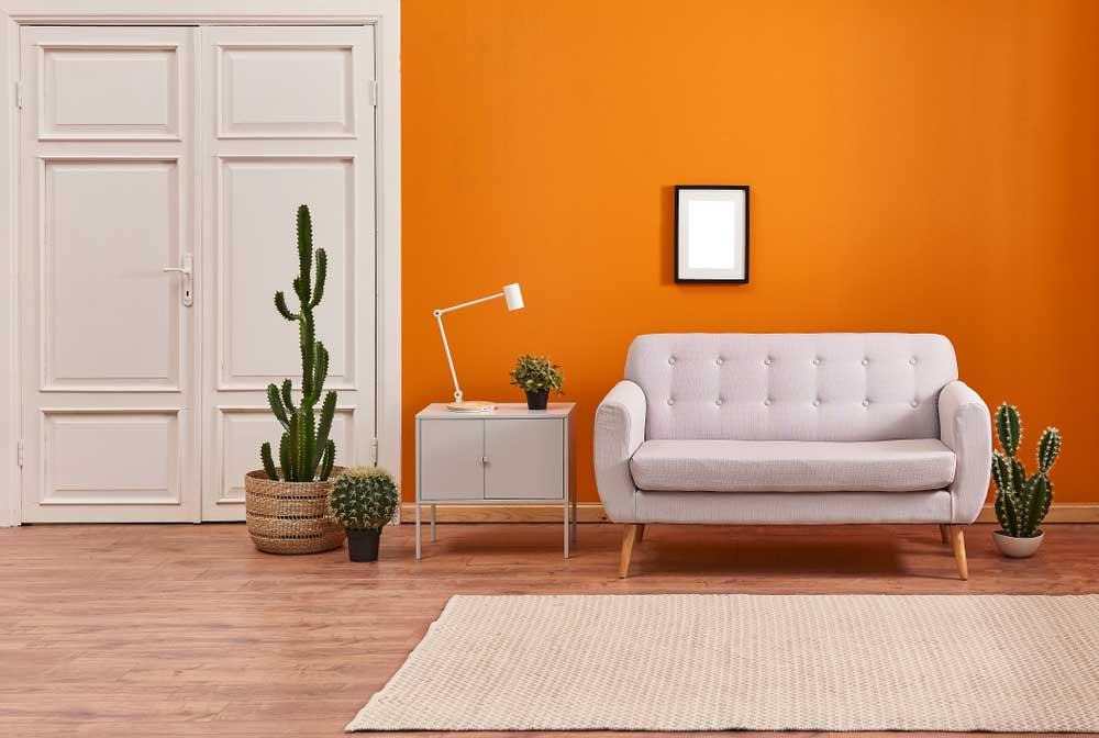 Retro Vibes In Huis Met Een Oranje Kleur Woonstijl
