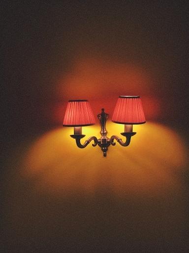 Oude wandlamp
